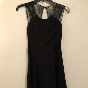 Black dress with lace detail